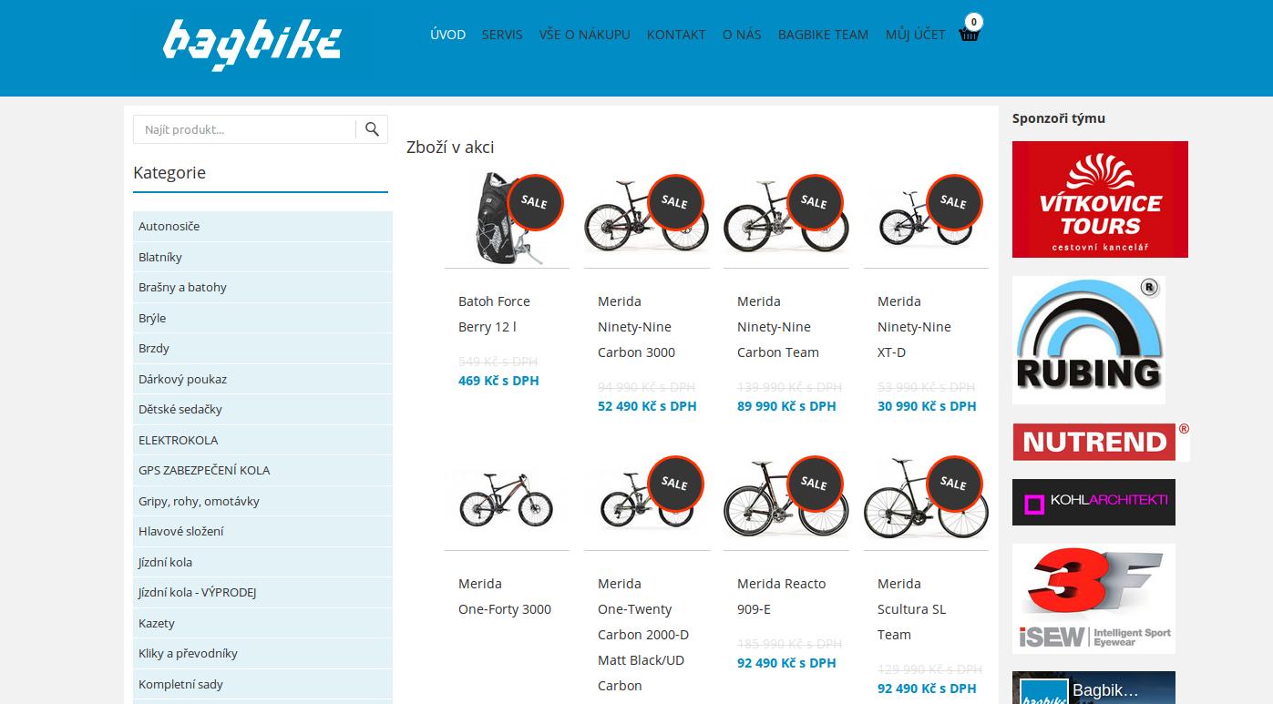 Internetový obchod bagbike